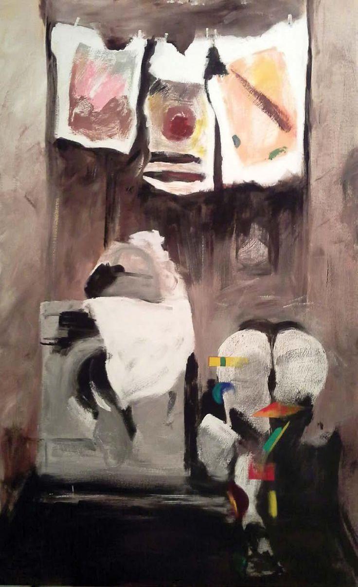 Mine Zereyalp, İsimsiz / Untitled, 2015, tuval üzerine karışık teknik / mixed media on canvas, 130x80cm