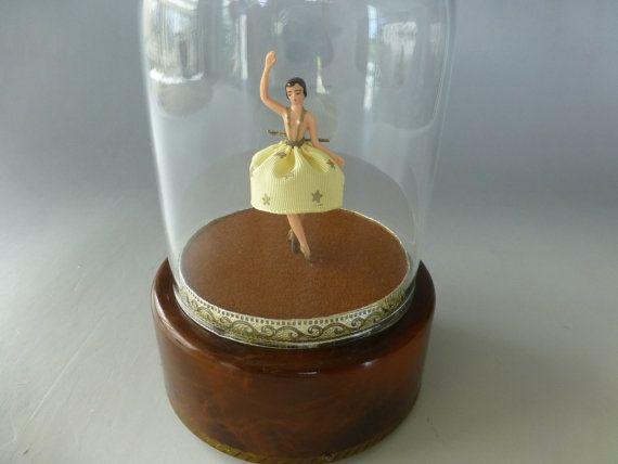 Vintage Swiss Reuge Dancing Ballerina Music by SingingBirdMusicBox