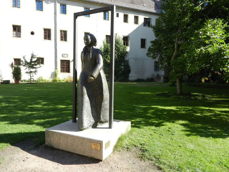 Statue of Luther's wife. Katharina von Bora, outside the Luther House