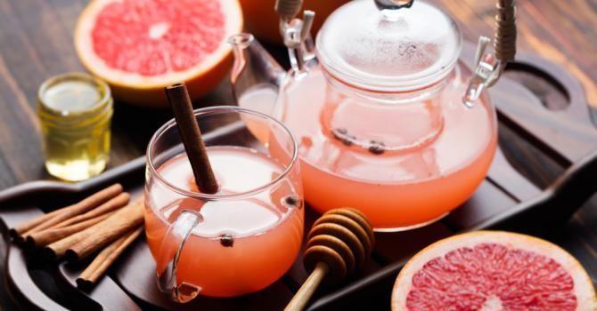 Recette de Tisane brûle-graisse pamplemousse, citron et menthe. Facile et rapide à réaliser, goûteuse et diététique.