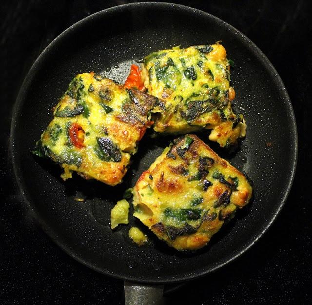 """A great omelet, made by the Norwegian blog """"Veganmisjonen"""" (The Vegan Mission)."""