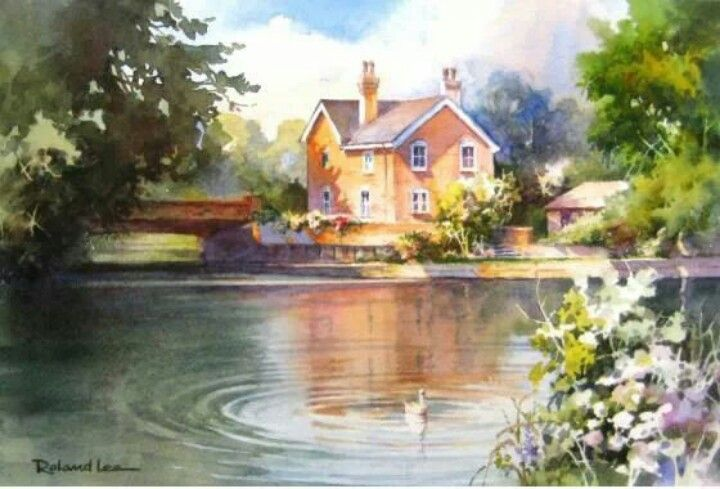 Watercolor Pond Art Pinterest Watercolors And Ponds