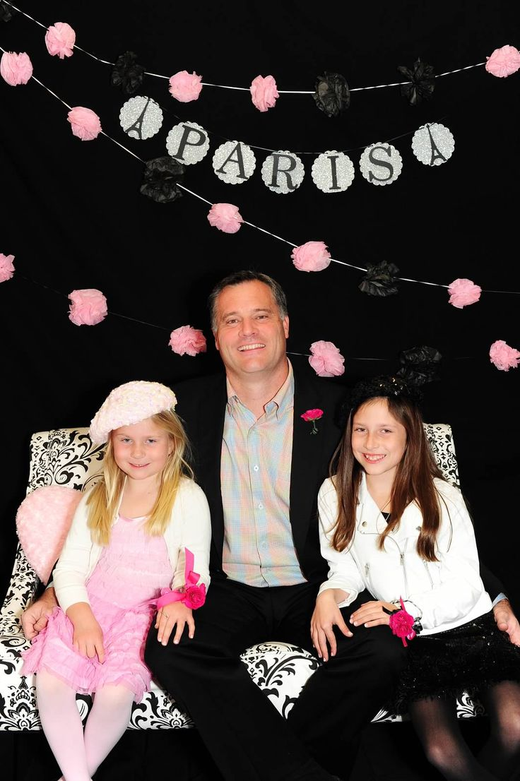 Father daughter Dance A Night in Paris Photo Backdrop