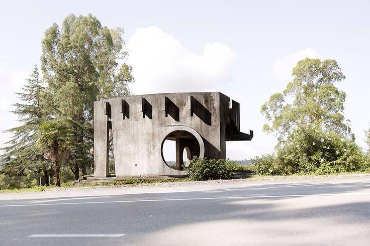 Chris Herwig - Soviet bus stops - Abkhazia