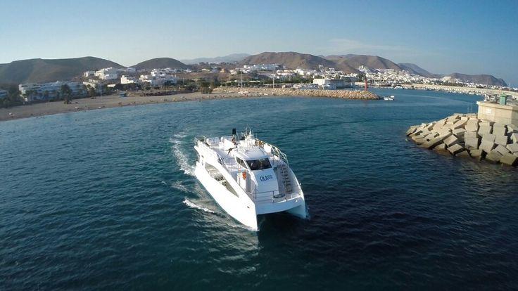 Catamarán Seadream. Navegando hacia el Cabo de Gata-Níjar