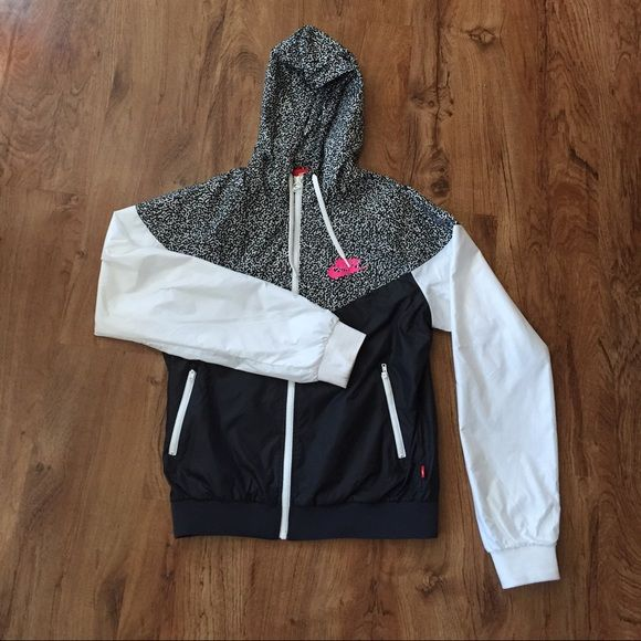 Nike Windrunner Jacket SUPER RARE color and pattern and so cute, worn only once. Open to offers, no trades. Tag says XL fits like a small. Nike Jackets & Coats
