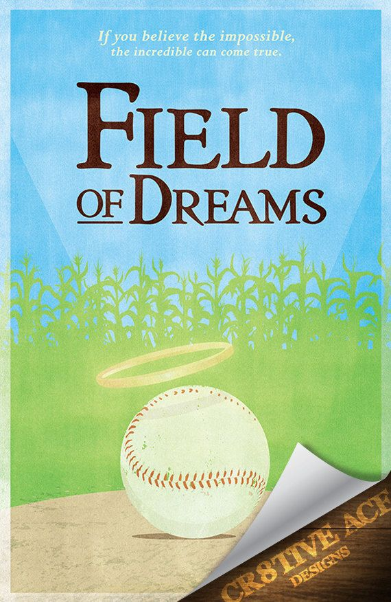 Field Of Dreams Movie Poster Digital Illustration by Cr8tiveACE