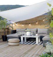 Une terrasse aménagée en hauteur esprit bohème - Marie Claire Maison