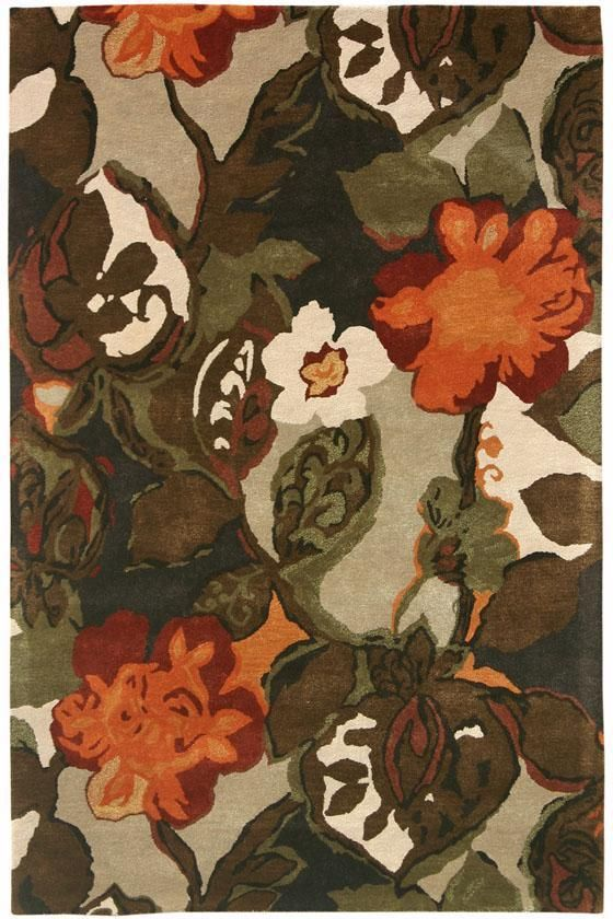 Balcony Rug: a floral rug constructed of a wool blend. #HDCrugs HomeDecorators.com