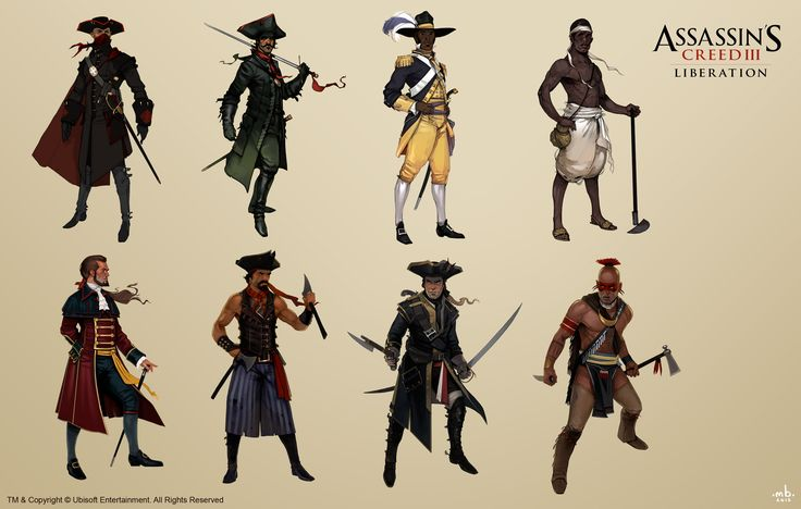 Character Design History : Assassin s creed liberation concepts part by mitkov