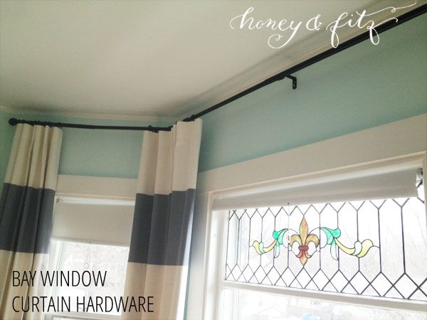 Bay Window Curtain Hardware Options For The Home Bay