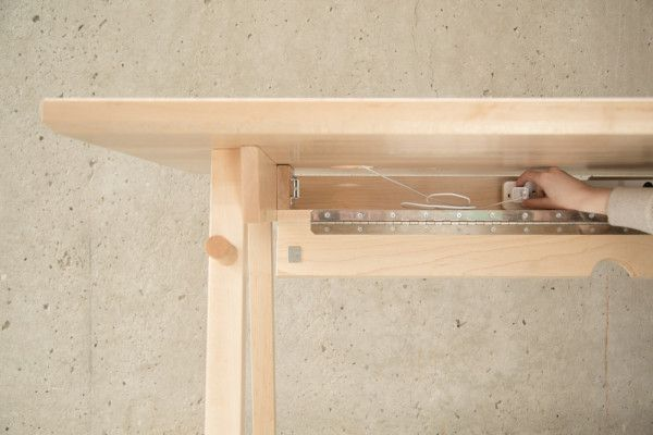 Desk that hides all your cords from Artifox and has a whiteboard!