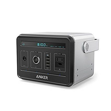 Anker PowerHouse, Compact 400Wh / 120, 000mAh Portable Outlet, Generator Alternative Rechargeable Power Source with Silent DC/AC Power Inverter, 12V Car, AC & USB Outputs