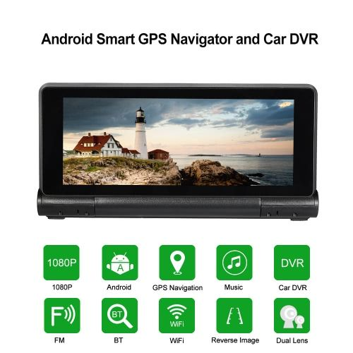 """KKmoon 7"""" Android 4.4 GPS Navigator Car DVR with Rear View Camera"""