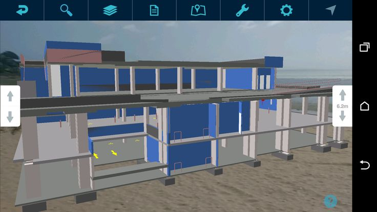 complex 3D model displayed in Augmented Reality mode using Augview