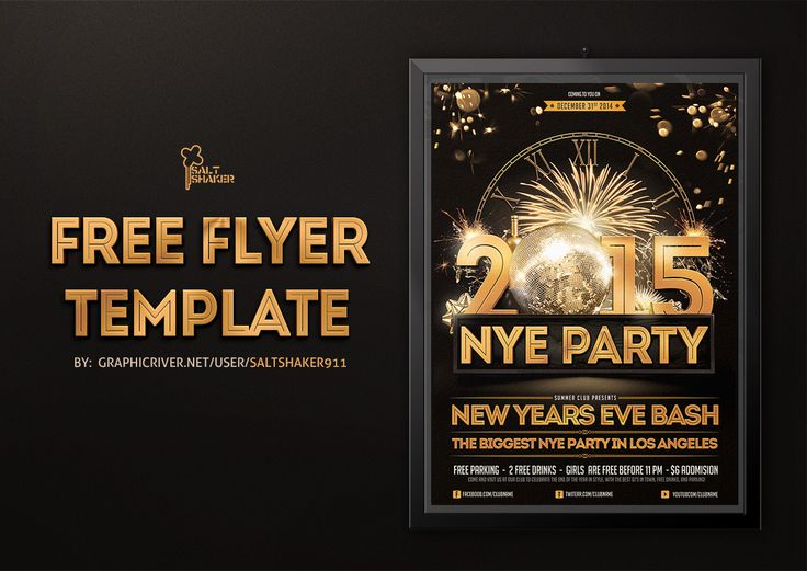 new years eve flyer template by saltshaker911 my flyer designs pinterest flyer template and template