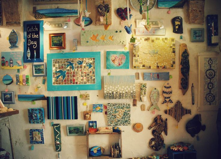 the new re- hung bird wall, well theres a few fish in there too, but this one wall of the gallery