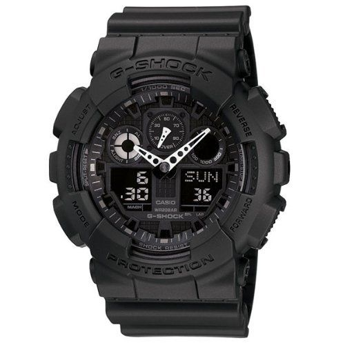 G Shock Combination Miltary Watch-Matte Black