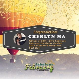 Congratulations, Cherlyn Ma! You have won a 2D1N stay at D'Resort @ Downtown East in our third Facebook Travel Contest from Groupon! Please check your Facebook message for instructions on how to claim the prize.  Thanks to everyone who participated and helped make this contest a success!  In case you missed it, you can check out on our Fabulous February Travel events here:http://bit.ly/2kZgydw by (grouponsg). view #travel #dametraveler #getaways #staycation #sgstaycation #darlingescapes…