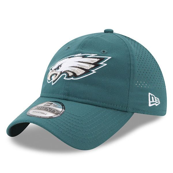 Philadelphia Eagles New Era Youth 2017 Training Camp Official 9TWENTY Adjustable Hat - Green - $25.99