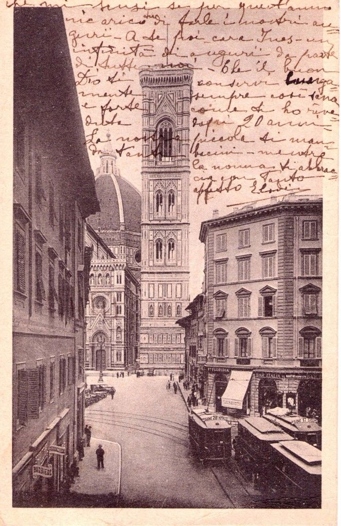 1939, Tram in Piazza Duomo #Florence
