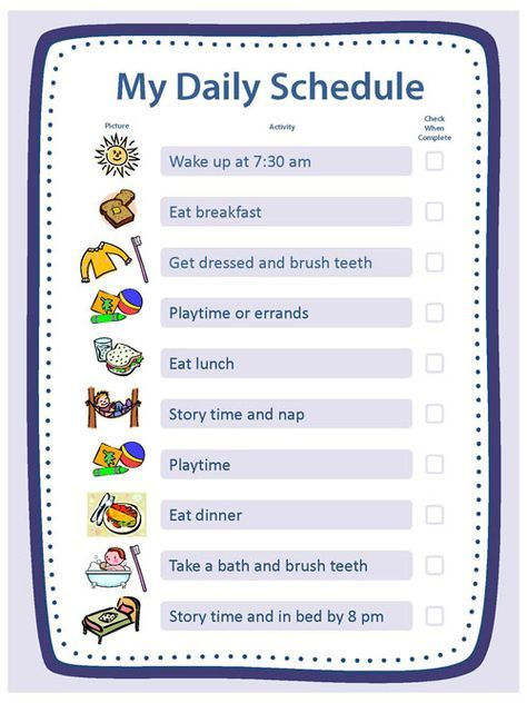 Free Blank Templates for Daily Schedule, Chore Chart, Reward Chart & Family Rules at cdc.gov
