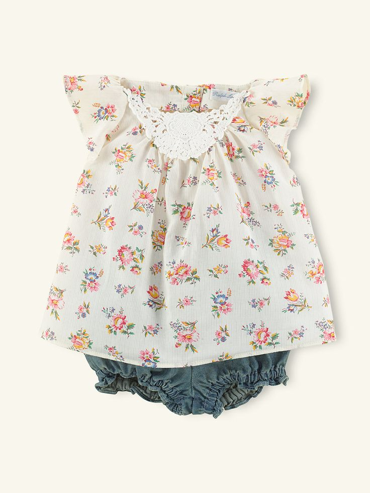 Floral Tunic & Denim Bloomer - Outfits & Gift Sets   Layette Girl (Newborn–9M) - RalphLauren.com