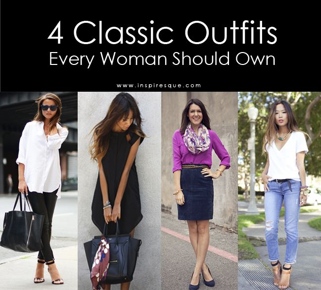 4 Classic Outfits Every Woman Should Have in Her Closet