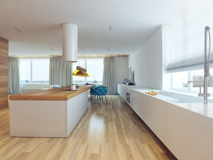 Dimitry Sorochan of Modom received a brief from his client's in St. Petersburg, Russia to design Apartment Q3 as an open concept home with a large kitchen that has...