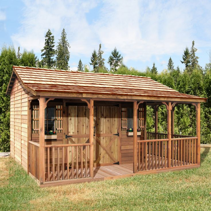 Shop Cedar Shed  FH1612 16-ft x 12-ft Farmhouse Shed  at Lowe's Canada. Find our selection of storage sheds at the lowest price guaranteed with price match + 10% off.