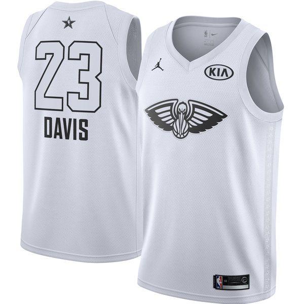 9c0c0f224b5 2018 All Star Game jersey  23 Anthony Davis White jersey