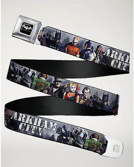 Arkham City Batman Seatbelt Belt - DC Comics - Spencer's