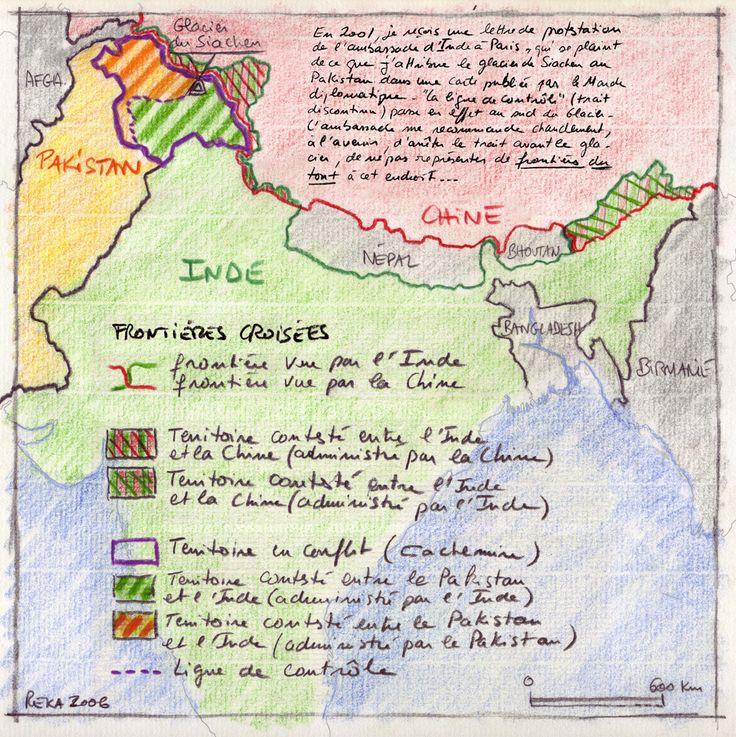 Philippe Rékacewicz pour le Monde Dipmomatique : les #frontières croisées du Cachemire