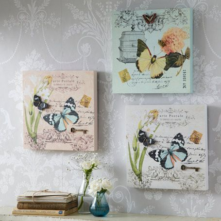 3D Carte Postale Butterfly Plaques - Set of 3