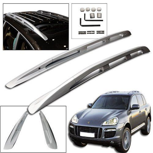 Liquor Car New For Porsche Cayenne 2008-2010 2009 Aluminium Alloy Luggage Carrier Roof Rack Side Rail Bars Mount Mounting
