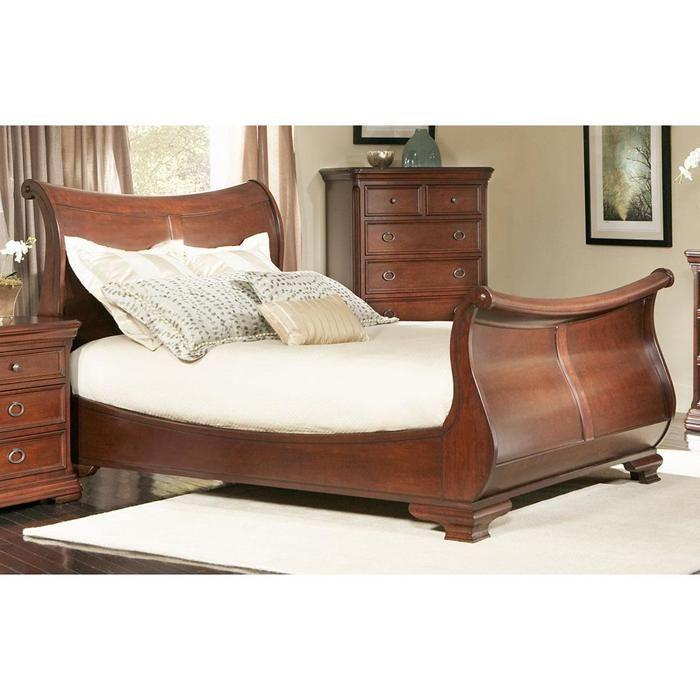 Marseille King Sleigh Bed In Black Cherry   Nebraska Furniture Mart