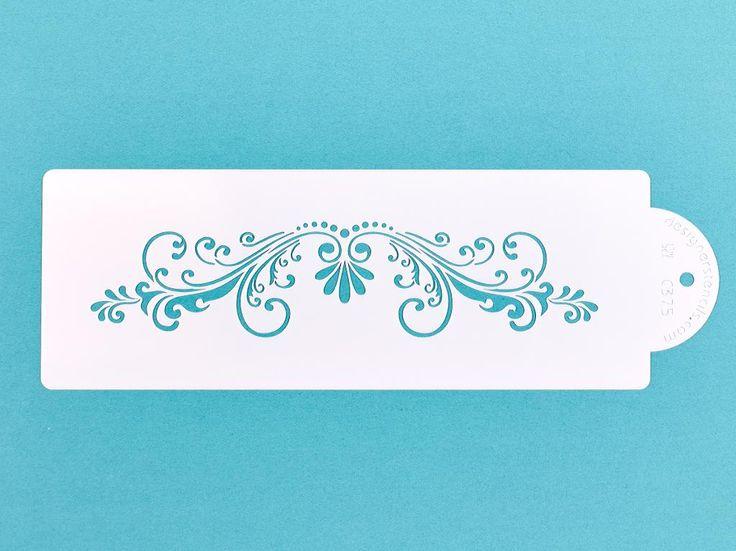Designer Stencils Fleur de Lis Cake Stencil Side - None