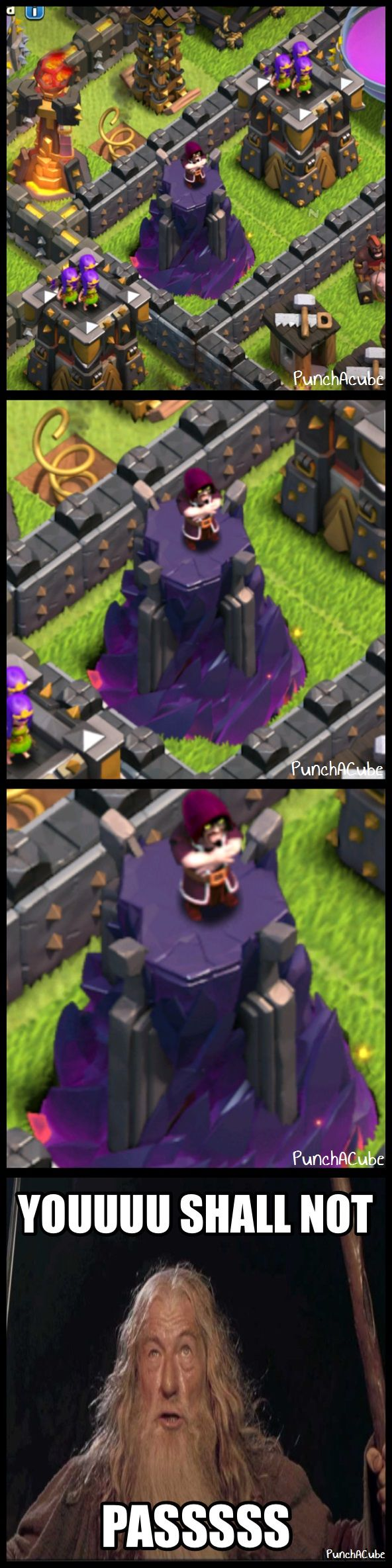 Clash of Clans Wizards Would Definitely Say….   #ClashofClans #Memes #youshallnotpass #donmesswithlvl10wizard