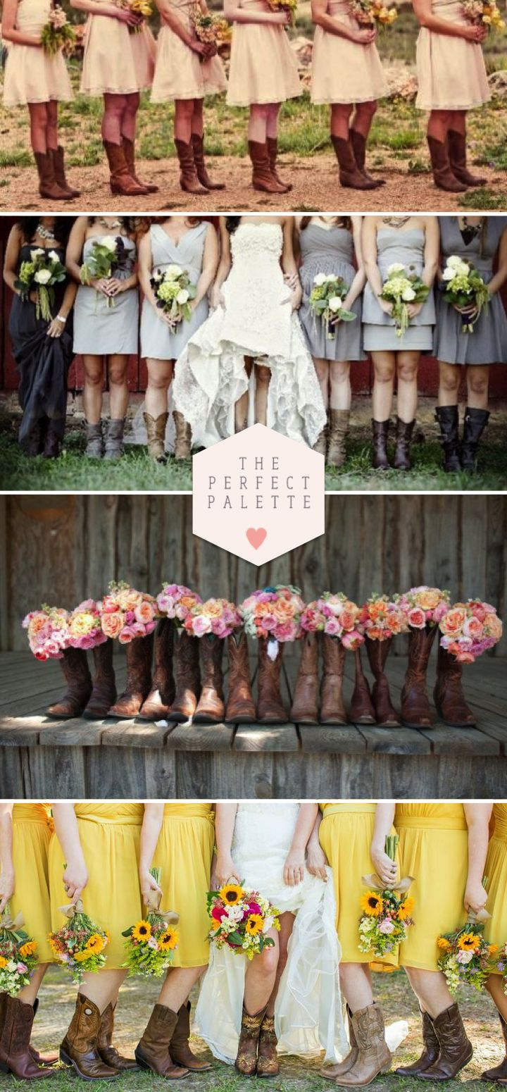 Bridesmaids in Boots - www.theperfectpalette.com - Styling Ideas for Your Bridal Party