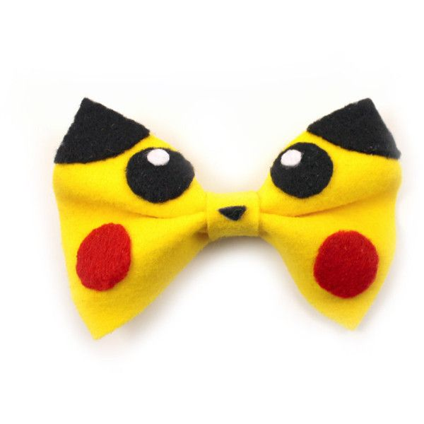Kawaii Pokemon Anime Inspired Pikachu Hair Bow ($10) ❤ liked on Polyvore…