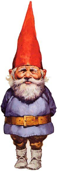 a tattoo idea for me. Memorial for Grandma Woolery. I'll have to dig my books out. For her, I'd like a girl gnome.