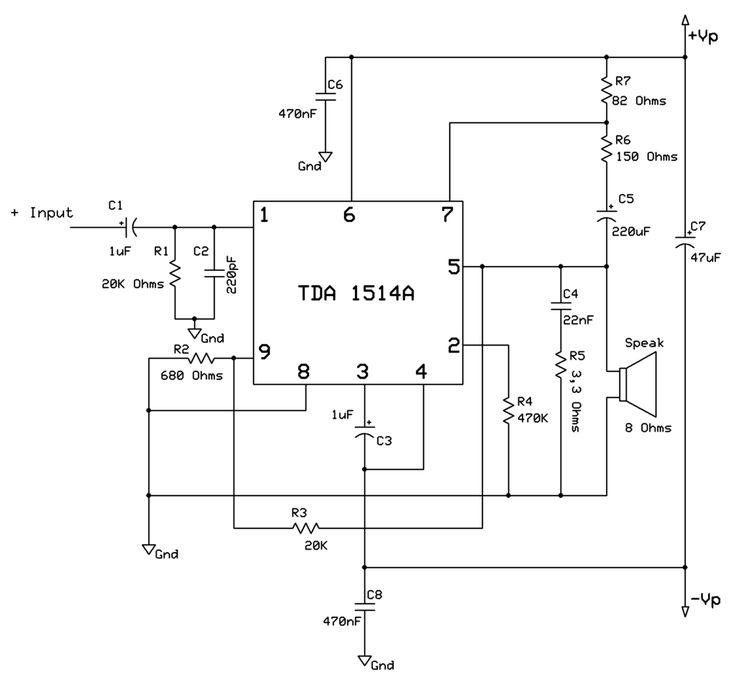 Pin Em Circuitos De Amplificadores De Som
