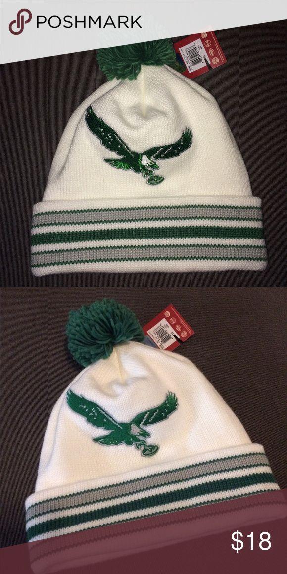 Pom Pom beanie - Philadelphia Eagles Pom Pom beanie Mitchell & Ness Accessories Hats