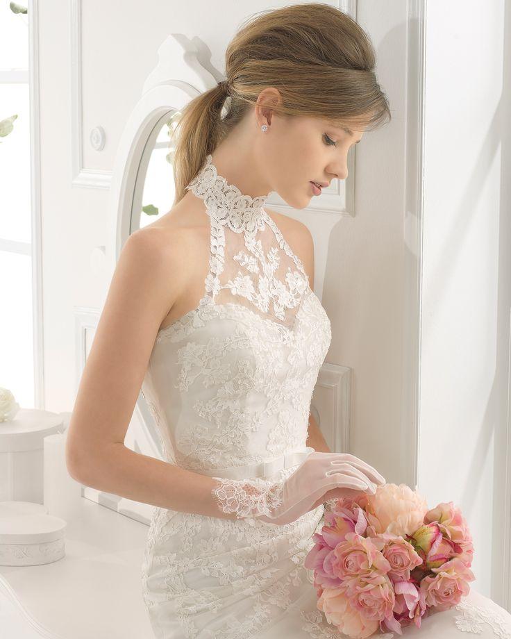 Altar vestido de novia corte sirena