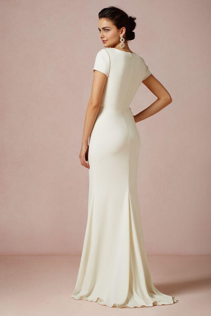 Simple Linen Wedding Dress1