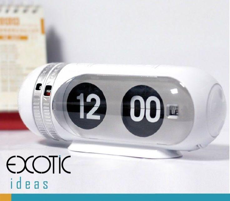 Retro Style Modern Design Auto Flip Radio Alarm Clock with Night Light + Snooze #Modern