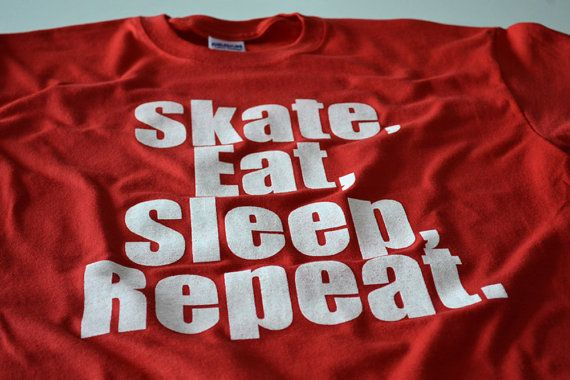 Childrens skateboarding tshirt funny kids sk8 t shirt red screenprint shortsleeve skateboard longboard cotton clothing gift for boys teens on Etsy, $14.99