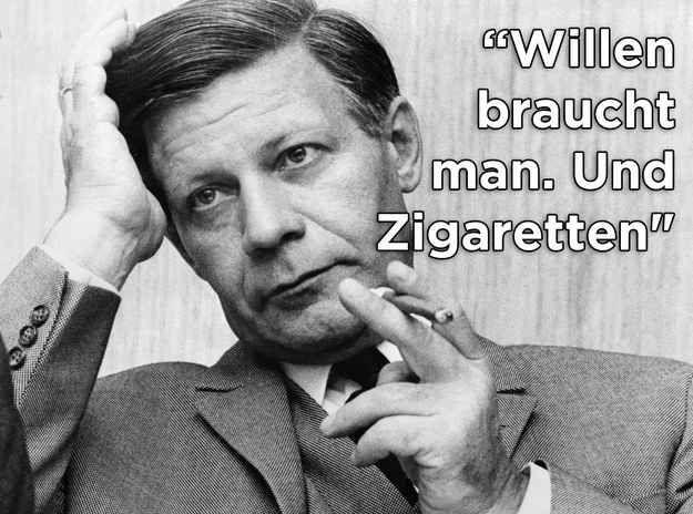 19 Sprüche von Helmut Schmidt, die unvergessen bleiben                                                                                                                                                                                 Mehr