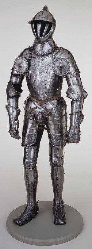 Armor of Emperor Ferdinand I, 1549  Made by Kunz Lochner (ca. 1510–1567)  German (Nuremberg)