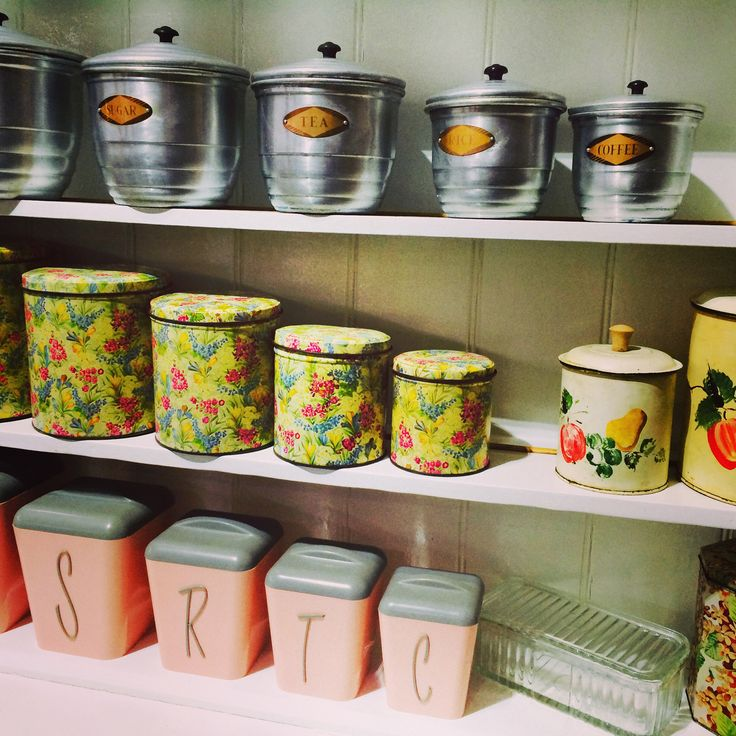 All types of cannisters, from Zozopop, the Amazing Mill Markets, Daylesford